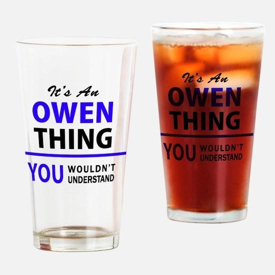 Cute Owen Drinking Glass