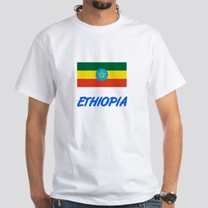 Ethiopia Flag Artistic Blue Design T-Shirt