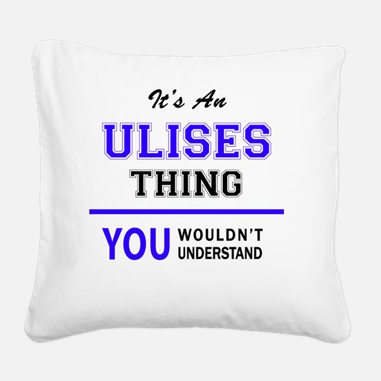 Cute Ulises Square Canvas Pillow