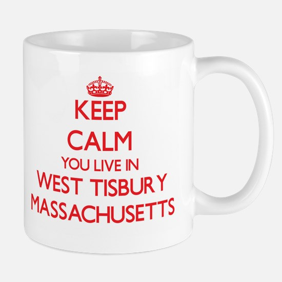 Keep calm you live in West Tisbury Massachuse Mugs