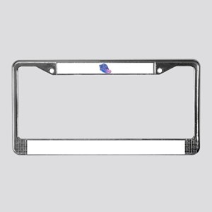 Pink and Blue Mosaic Conch Sea License Plate Frame
