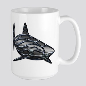 Shiny Embossed Tribal Shark Mugs