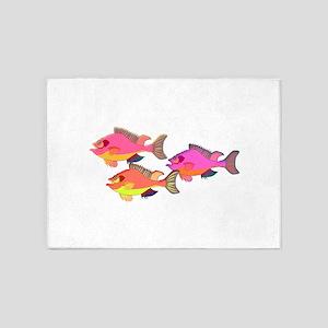 School of Rainbow Fish 5'x7'Area Rug