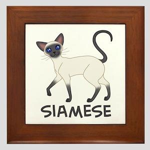 Blue Point Siamese Framed Tile