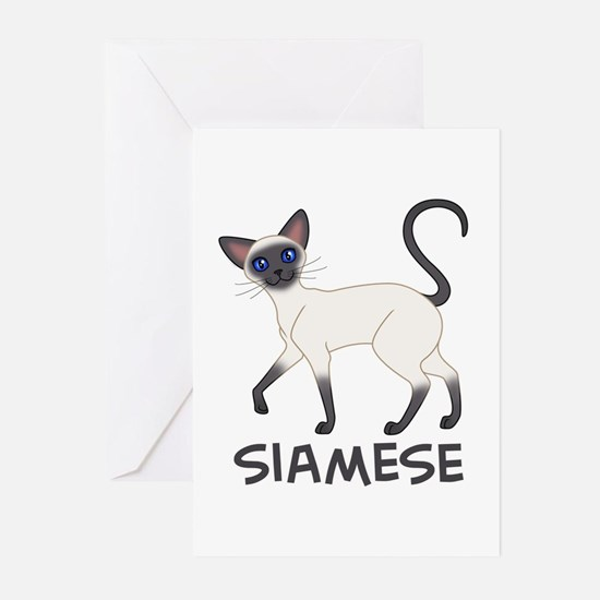Blue Point Siamese Greeting Cards (Pk of 10)
