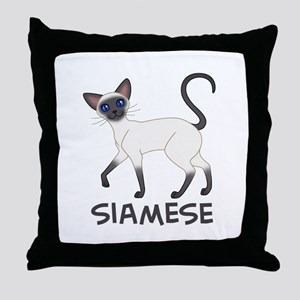 Blue Point Siamese Throw Pillow