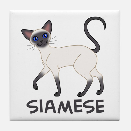 Blue Point Siamese Tile Coaster