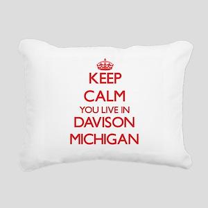 Keep calm you live in Da Rectangular Canvas Pillow