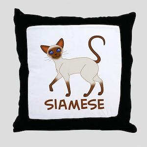 Choc. Point Siamese Throw Pillow