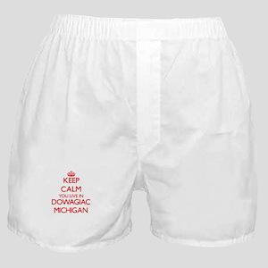 Keep calm you live in Dowagiac Michig Boxer Shorts