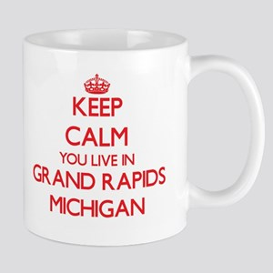 Keep calm you live in Grand Rapids Michigan Mugs