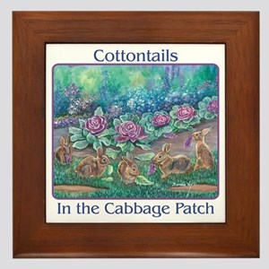 Cottontail rabbits Framed Tile