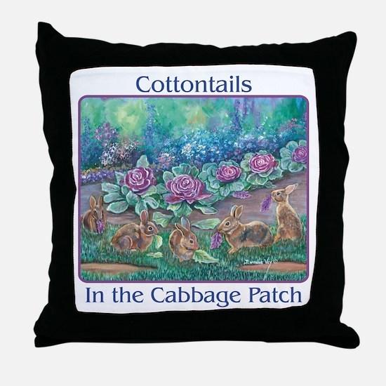 Cottontail rabbits Throw Pillow