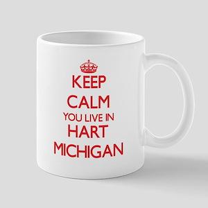 Keep calm you live in Hart Michigan Mugs