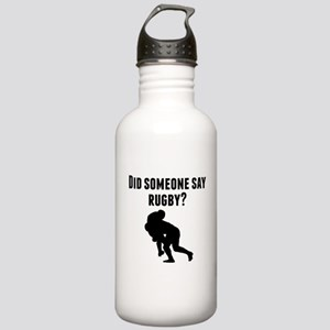 Did Someone Say Rugby Water Bottle