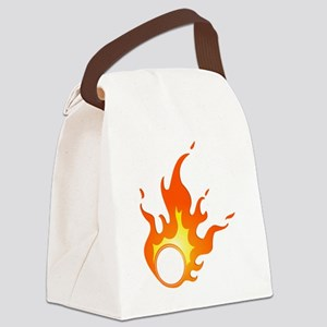 flame Canvas Lunch Bag