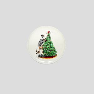 Corgi Christmas Mini Button