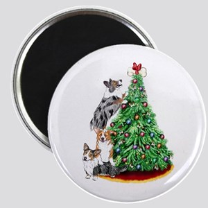 Corgi Christmas Magnet