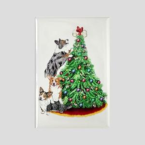 Corgi Christmas Rectangle Magnet