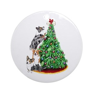 cardigan welsh corgi ornaments cafepress - Corgi Christmas Ornaments
