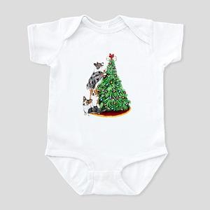 Corgi Christmas Infant Bodysuit