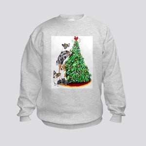 Corgi Christmas Kids Sweatshirt