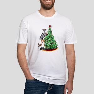 Corgi Christmas Fitted T-Shirt
