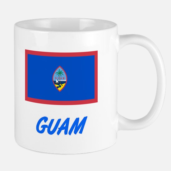 Guam Flag Artistic Blue Design Mugs