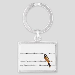 Bird on a Wire Keychains