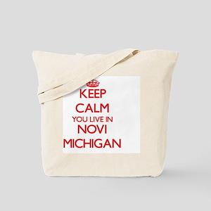 Keep calm you live in Novi Michigan Tote Bag