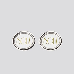 5 Solas Oval Cufflinks