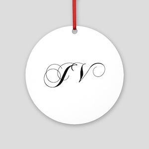 JV-cho black Ornament (Round)
