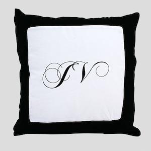 JV-cho black Throw Pillow
