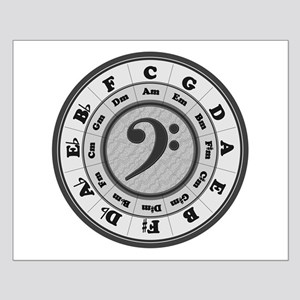 Bass Clef Circle of Fifths Small Poster