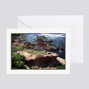 California Coast with Seagull Greeting Cards