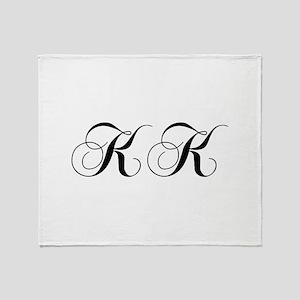 KK-cho black Throw Blanket