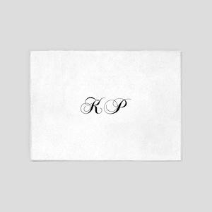 KP-cho black 5'x7'Area Rug