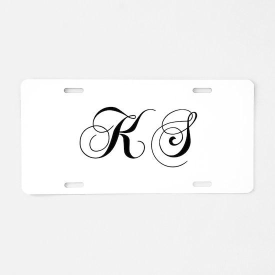KS-cho black Aluminum License Plate