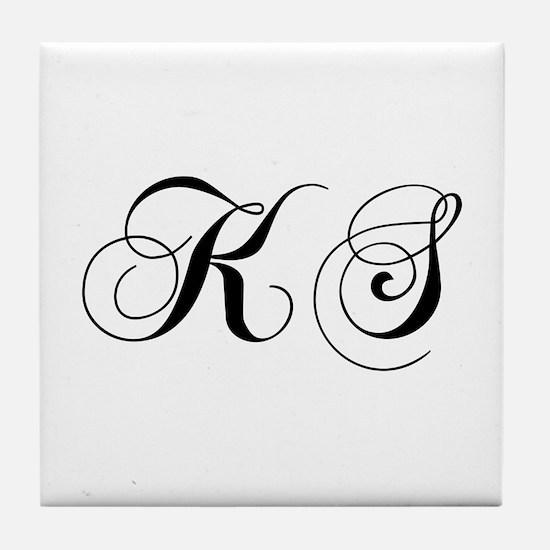 KS-cho black Tile Coaster