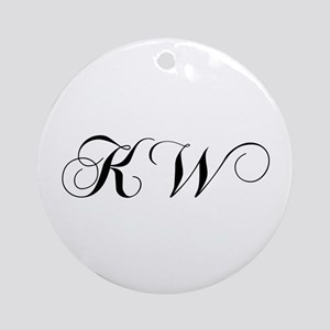KW-cho black Ornament (Round)