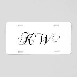 KW-cho black Aluminum License Plate