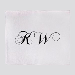 KW-cho black Throw Blanket