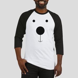 Minimalist Polar Bear Face Baseball Jersey