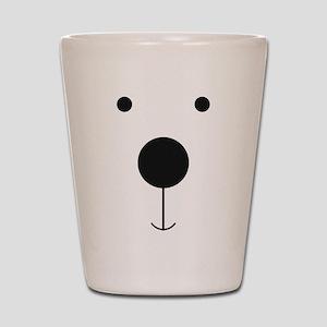 Minimalist Polar Bear Face Shot Glass