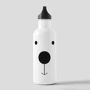 Minimalist Polar Bear Face Water Bottle