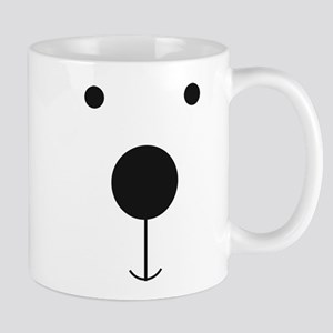 Minimalist Polar Bear Face Mugs