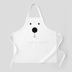 Minimalist Polar Bear Face Apron