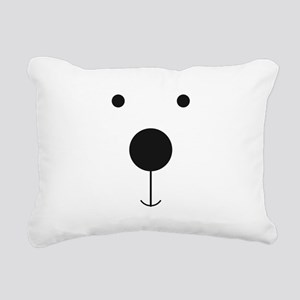 Minimalist Polar Bear Face Rectangular Canvas Pill