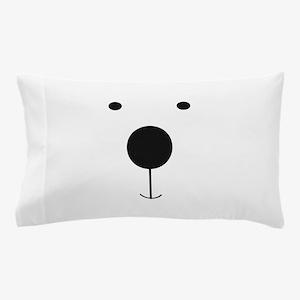 Minimalist Polar Bear Face Pillow Case