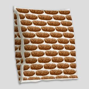 8 Bit Pixel Poop Burlap Throw Pillow